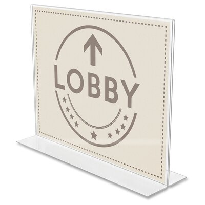 Anti-Glare Double Sided Sign Holder