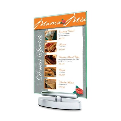 Swivel Sign Holder, Stand-Up, 5x7,Clear