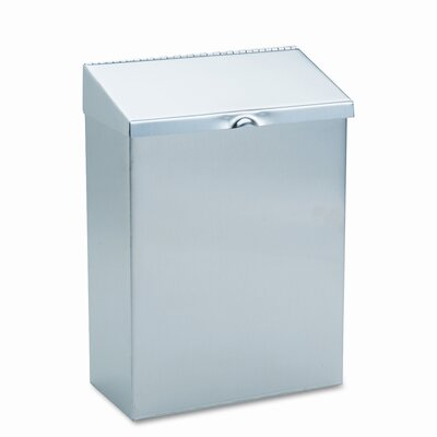 Wall Mount Convertible Sanitary Napkin Receptacle, Stainless Steel