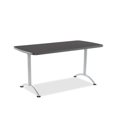 Curved End Conference Table Finish: Graphite/Silver, Size: 5 L