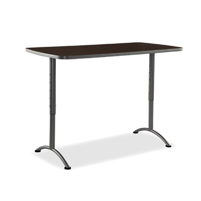 Curved End Conference Table Size: 5 L, Finish: Walnut/Charcoal