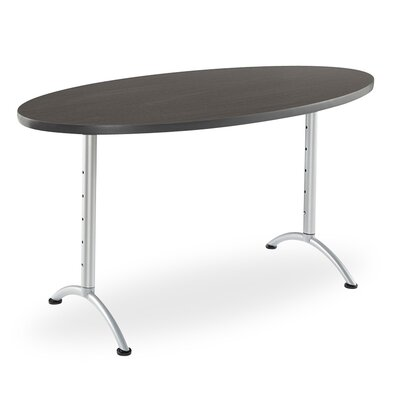 6 Oval Conference Table Finish: Gray Walnut/Silver