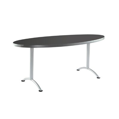 6 Oval Conference Table Finish: Graphite with Silver Legs