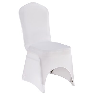 Banquet Chair Slipcover Upholstery: White