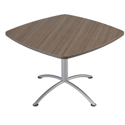 iLand Square Conference Table Top Finish: Natural Teak, Size: 29 H x 42 W x 42 D