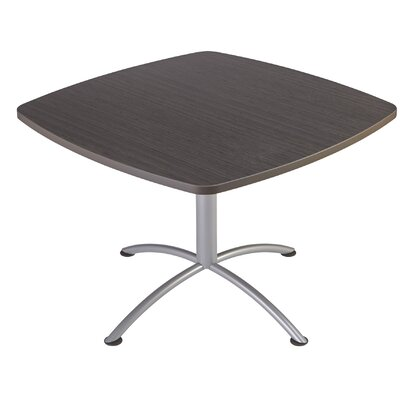 iLand Square Conference Table Top Finish: Gray / Walnut, Size: 29 H x 42 W x 42 D