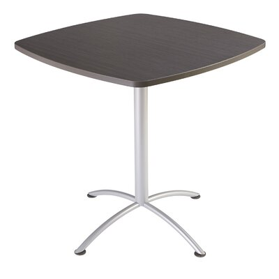 iLand Square Conference Table Top Finish: Gray / Walnut, Size: 42 H x 42 W x 42 D
