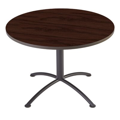 iLand Circular Conference Table Base Finish: Charcoal, Top Finish: Mahogany, Size: 3.5