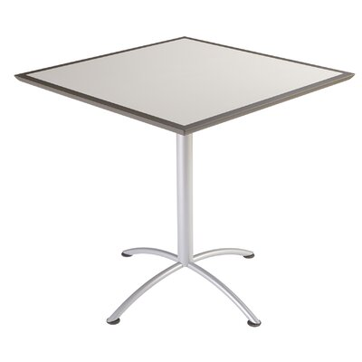 iLand Square Conference Table Top Finish: Gray, Size: 42 H x 42 W x 42 D