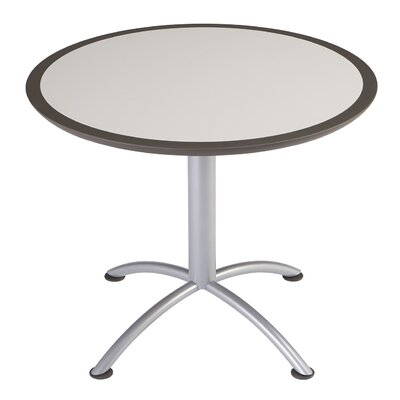 iLand Circular Conference Table Size: 29 H x 36 W x 36 D, Top Finish: Gray
