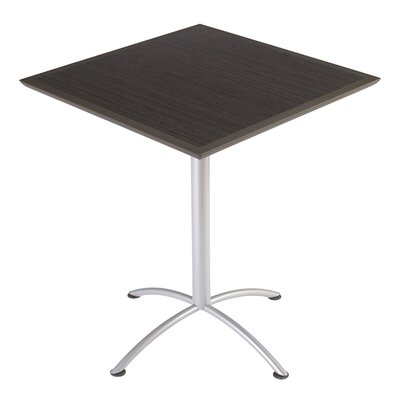 iLand Square Conference Table Top Finish: Gray / Walnut, Size: 42 H x 36 W x 36 D