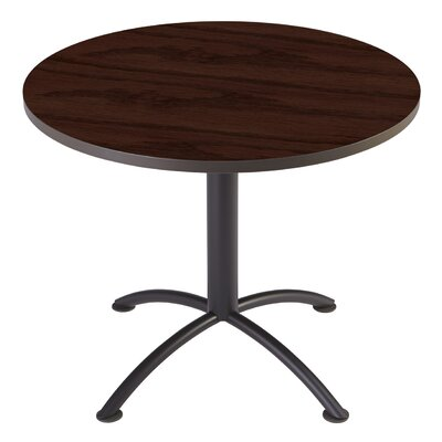 iLand Circular Conference Table Base Finish: Charcoal, Top Finish: Mahogany, Size: 3