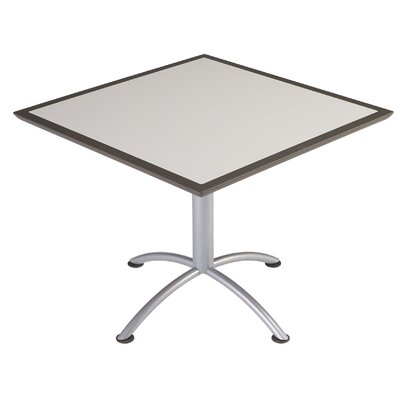 iLand Square Conference Table Top Finish: Gray, Size: 29 H x 36 W x 36 D