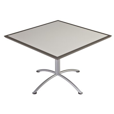 iLand Square Conference Table Top Finish: Gray, Size: 29 H x 42 W x 42 D