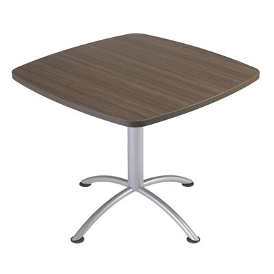 iLand Square Conference Table Top Finish: Natural Teak, Size: 29
