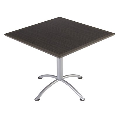 iLand Square Conference Table Top Finish: Gray / Walnut, Size: 29 H x 36 W x 36 D