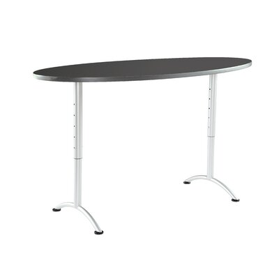 6 Oval Conference Table Finish: Graphite/Silver