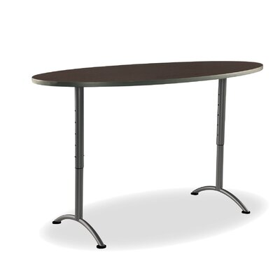 Racetrack/Oval 8.5H x 41W x 77L Conference Table Finish: Walnut/Charcoal