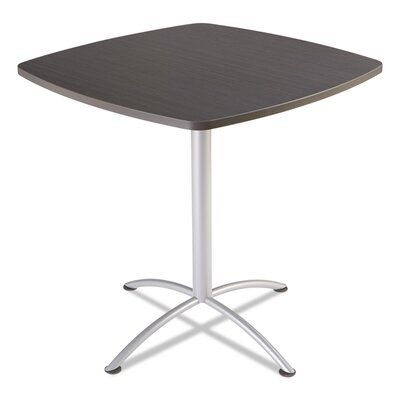 iLand 42 Round Contour Square Seated Style Table Top Finish: Gray Walnut