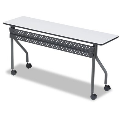 OfficeWorks Training Table with Wheels Tabletop Finish: Gray, Size: 18 H x 60 W