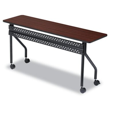 OfficeWorks Training Table with Wheels Tabletop Finish: Mahogany, Size: 18 H x 60 W
