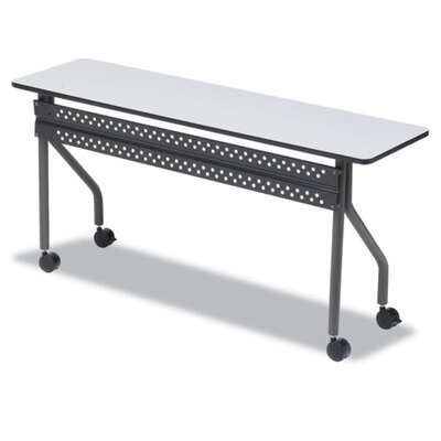 OfficeWorks Training Table with Wheels Tabletop Finish: Gray, Size: 18 H x 72 W