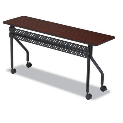 OfficeWorks Training Table with Wheels Tabletop Finish: Mahogany, Size: 18 H x 72 W