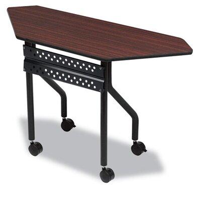 Officeworks Trapezoid Training Table with Wheels Tabletop Finish: Mahogany, Size: 48 x 18