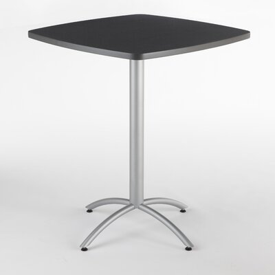 CafeWorks Pub Table Color: Graphite Granite