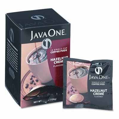 Java One Coffee Pods, Hazelnut Creme, Single Cup, 14/Box JAV70500