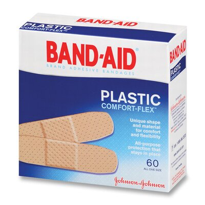 Johnson Band-Aid Plastic Bandages, 60 per Box (Set of 3) JOJ5635
