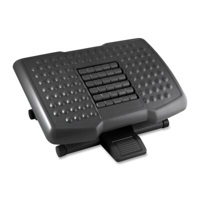 Footrest w/ Rollers, Adjustable, 18x13x4, Black