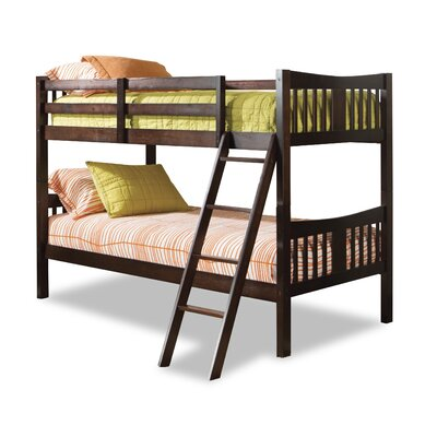 Stork Craft Caribou Twin over Twin Bunk Bed with Ladder (2 Pieces) - Finish: Cherry
