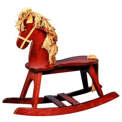 Stork Craft PlayTyme Child's Rocking Horse in Cherry