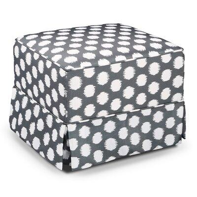 Polka Dot Glider Ottoman Upholstery: Gray/White