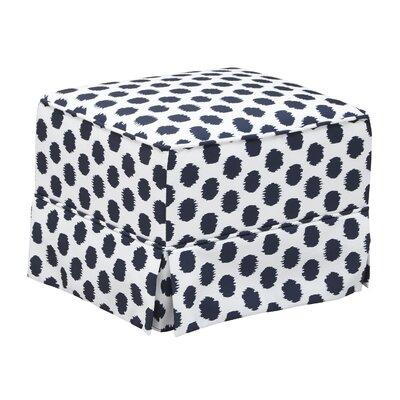 Polka Dot Glider Ottoman Upholstery: White/Navy