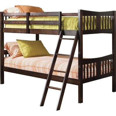 Caribou Solid Hardwood Twin Bunk Bed