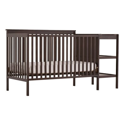 Milan Fixed Side Convertible Crib Changer Finish: Espresso 04526-109