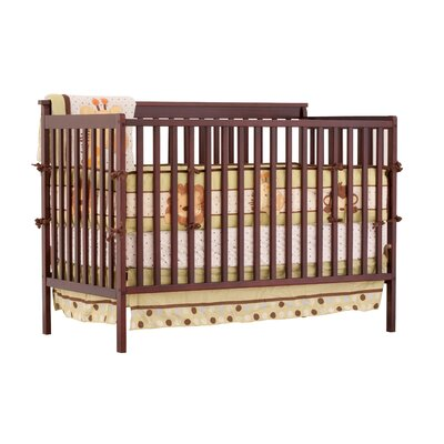 Milan Fixed Side Convertible Crib Changer Finish: Cherry 04526-104