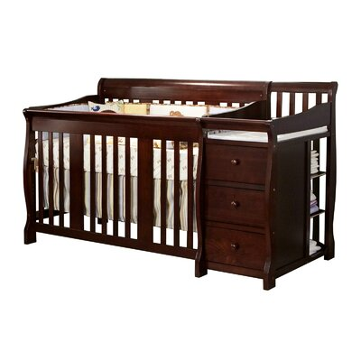 Portofino Fixed Side Convertible Crib Changer Finish: Espresso