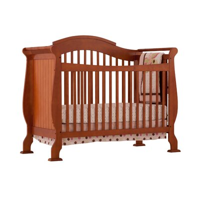 Valentia Fixed Side Convertible Crib in Cognac