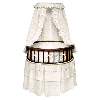 Badger Basket Elegance Bassinet with Eyelet Bedding 829
