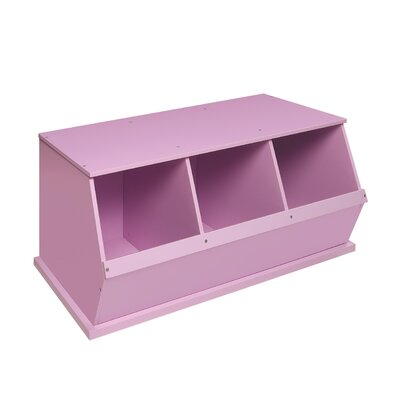 Go-To Storage Cubby Color: Lilac, Bins: 3