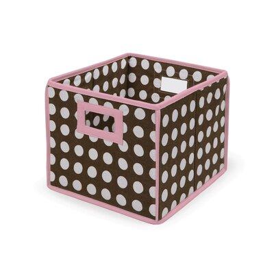 Polka Dot Basic Storage Cube Color: Brown Polka Dots with Pink Trim