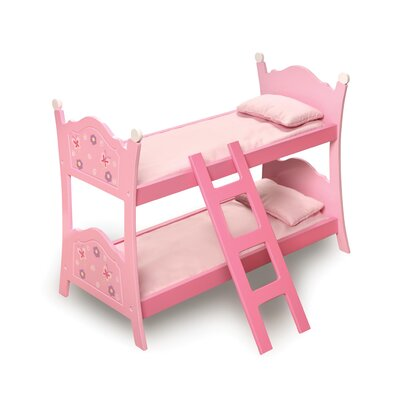 Blossoms and Butterflies Doll Bunk Bed with Ladder