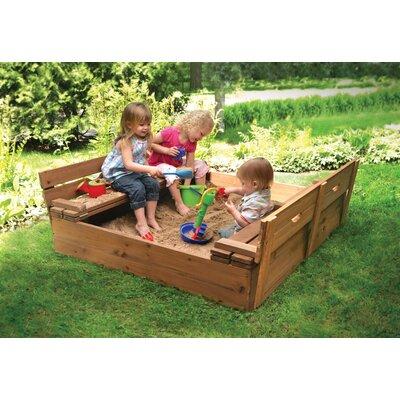 Cedar 4' Rectangular Sandbox Color: Natural