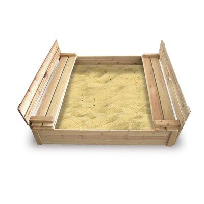 Badger Basket Cedar 4′ Rectangular Sandbox with Cover 9988