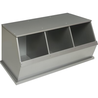 Go-To Storage Cubby Color: SIlver, Bins: 3