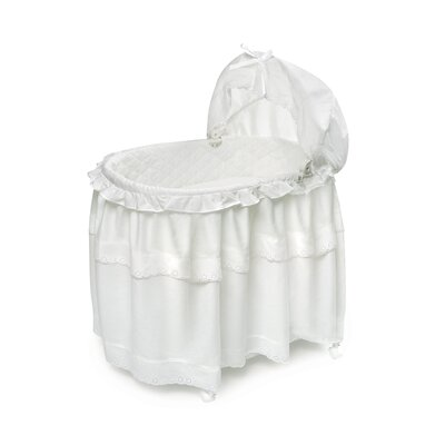 Badger Basket Batiste Bassinet with Floor Long Skirt 620