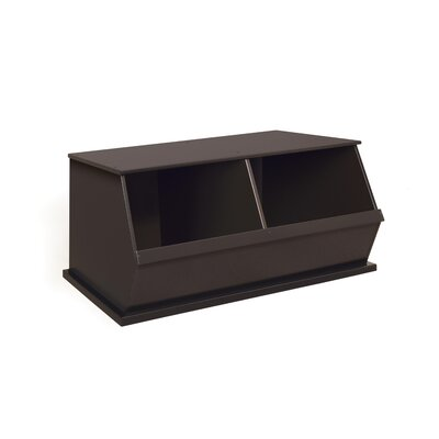 Go-To Storage Cubby Bins: 2, Color: Espresso